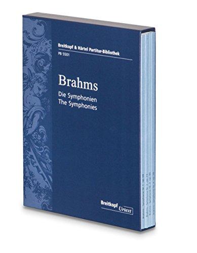 Preisvergleich Produktbild Die Symphonien 4 Studienpartituren im Schuber - Breitkopf Urtext (PB 5501)
