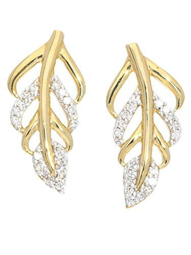 MyGold Diamant Ohrringe Ohrstecker Gelbgold 750 Gold (18 Karat) 0,08ct. 16mm x 7mm Ohrschmuck...