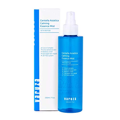 [varuza] Centella Asiatica Calming Essence Mist mit Peptid für empfindliche Haut Redness Relief Upside Down Spray 200ml -