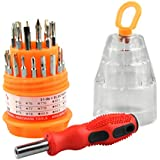 Suzec Precision Magnetic 31 in 1 Repairing ScrewDriver Tool Set Kit (Multicolor, 31 Pieces)