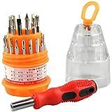 Suzec Precision Magnetic 31 in 1 Repairing ScrewDriver Tool Set Kit (Multicolor, 31 Pieces)