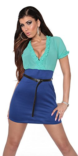 In-Stylefashion - Robe - Femme Beige Beige Vert - Mintblau