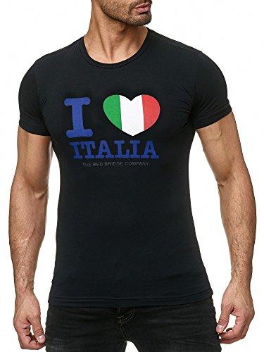 Red Bridge Herren T-Shirt I Love My State Schwarz Italien L