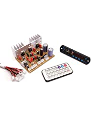Electronicspices Combo of Audio Amplifier Board 100W with Bass Boost Support TDA2030 Based and Bluetooth FM Audio Player Decoder with Remote Kit