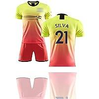 para Bruyne 17 Agüero 10 Silva 21,Conjunto de Camiseta de fútbol para niños, el Segundo Uniforme de fútbol Fuera de casa de la Temporada 19-20,para jóvenes Se Pueden Limpiar repetidamente