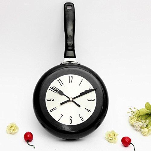 Bluelover Progettazione volo Pan parete orologio cucina pendente quarzo - Black House