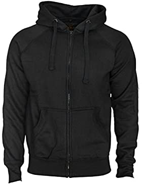 Kapuzenjacke Slim Fit Sweatjacke Heavy Hoodie Zipper Workerhoodie Pullover von ROCK-IT - Herren - Schwarz Grün...