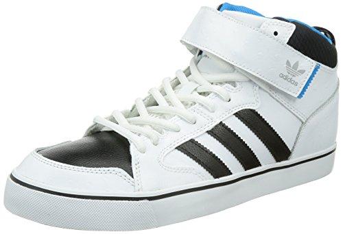 Adidas Varial II Mid Skaterschuh C76962 White/Core Black/Solar Blue Gr. 43 1/3 (UK 9,0) (Skate Mid Schuhe 2)
