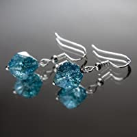 "Ohrhänger ""AQUA"" Ohrringe Silber 925 blau türkis Kyanit Naturstein"