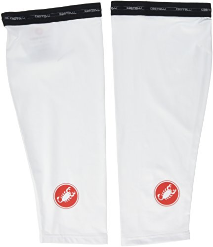 CASTELLI UPF 50 + Light Knee Skins kneeWarmer S weiß -