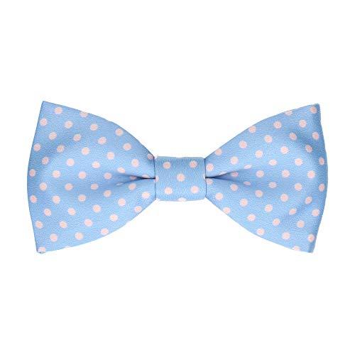Mrs Bow Tie Lillybrook Fliege with Dots, Fertig gebundene - Helles Himmelblau -