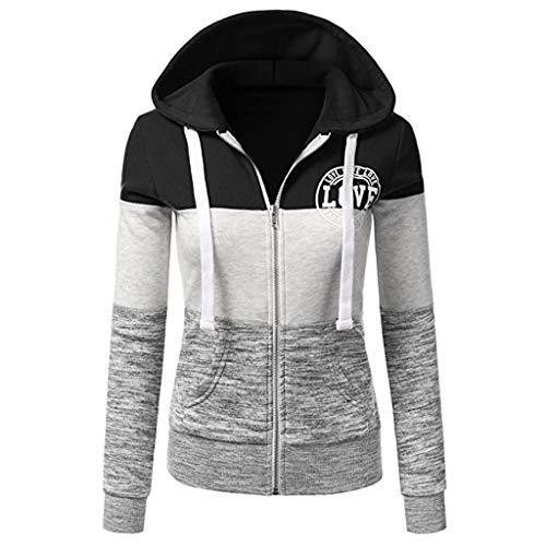Polpqed felpe con cappuccio da donna alla moda sweatshirt camicetta con cappuccio donna patchwork pullover maglione con cappuccio sportivo casual