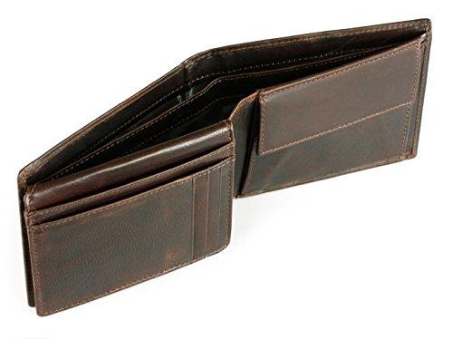 30173aaf742784 ... BUGATTI® Romano Echtleder Geldbörse im Querformat, black/schwarz    Portemonnaie mit Klappfach aus