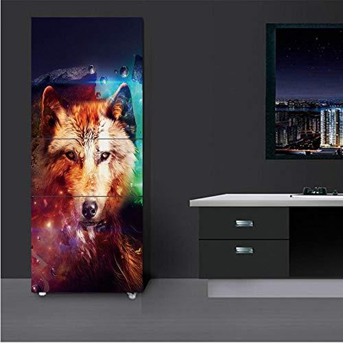 Fushoulu 77X200Cm Hd Print 3D Abstract Wolf Poster