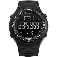 WULIFANG Fashion Casual Silikon LED Digital Armbanduhr Chronograph Anzeige Wecker Sport Wasserdichte Uhr