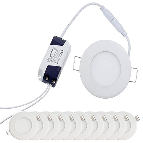 YESDA 10x3W Plafon Techo LED Downlight focos led empotrables Panel led Blanco...