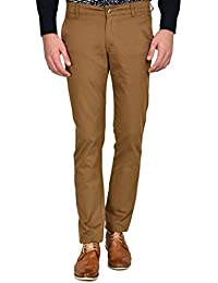 Ruace Men's Dk-khaki Slim Fit Cotton Trouser
