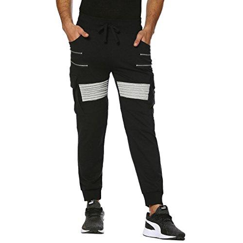 Campus Sutra Men's Track Pant (AZ17BOT_TPCARGO_M_PLN_BLGR_AZ_XL)