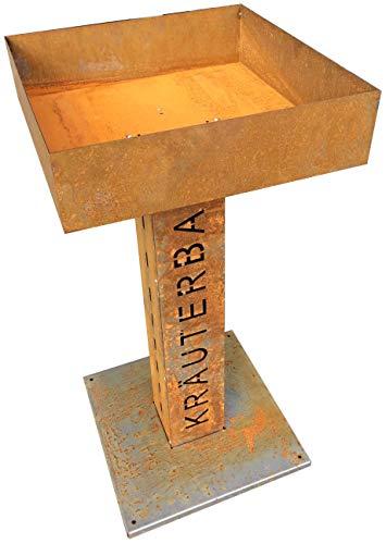 Metalltechnik Dermbach GmbH Kräuterbar Kräuterbeet Frühbeet Säule in Edelrost