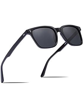Carfia Occhiali da sole polarizzati Occhiali da sole retrò classici per Uomo UV400 Protezione