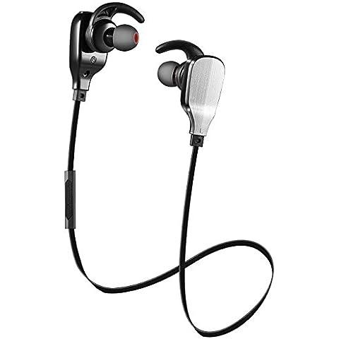 Auriculares Bluetooth, shareconn inalámbrico Deportes Auriculares Auricular Bluetooth 4.1con Micrófono ligero HD Auriculares estéreo Auriculares con reducción de ruido auriculares sudor auricular manos libres para smartphones