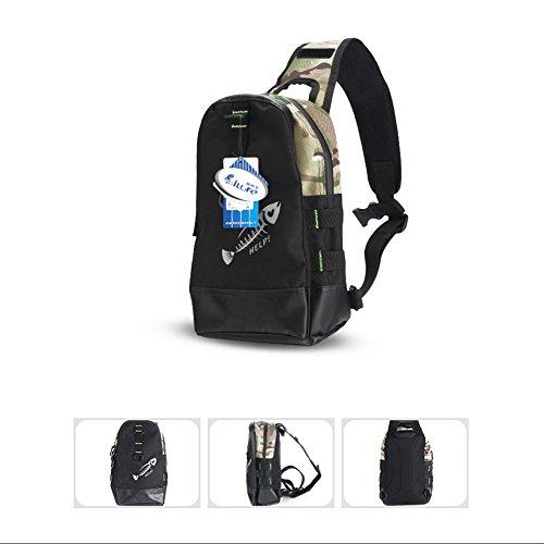 Tactical Military Brust Sling Tasche MOLLE Crossbody Schulter Sling Pack Single Gurt Rucksack mit Wasser Flasche Halter für Outdoor Wandern Camping Einheitsgröße Desert camouflage
