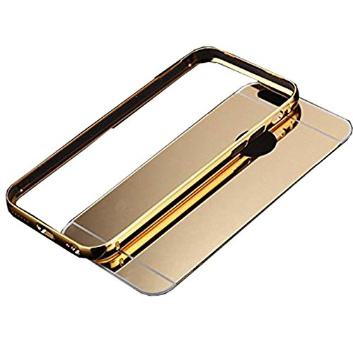 Semoss Luxury Bling Gliter Strass Custodia con Cuore Anello Supporto per iPhone 6S Plus / 6 Plus Ultra Slim TPU Cover Trasparente Case Rigida PC Bumper Cavalletto Shell Skin - Rose Specchio Rose
