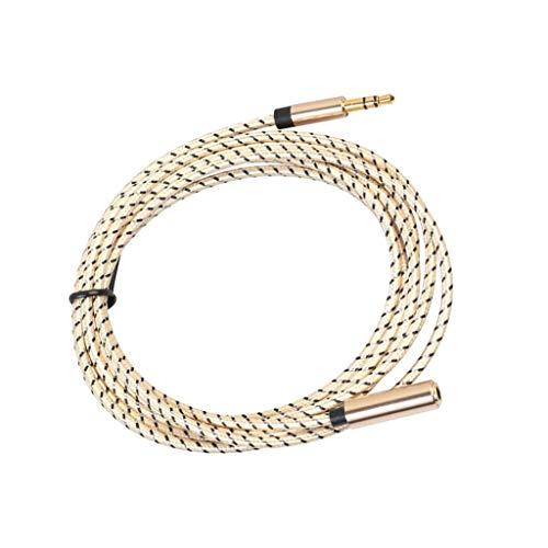 D DOLITY 1 Stück Auto Aux Audio Kabel 3,5-mm-Audiokabel Stecker auf Buchse Für MP3-Auto - 180cm