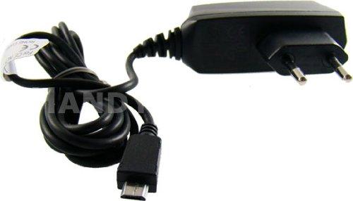 caseroxx Handy Ladekabel Samsung-Stecker für Samsung SGH-J200, hochwertiges Ladegerät mit Netzteil zum Aufladen (flexibles, stabiles Kabel in schwarz)