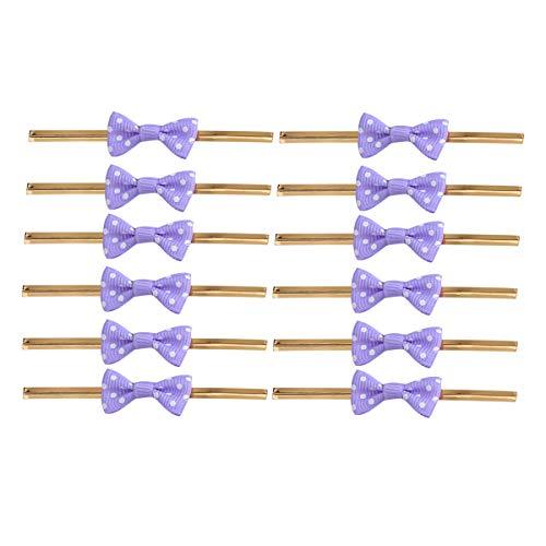 iege Twist Krawatten für Cake Pops Abdichtung Cello Taschen Lollipop Geschenke Packgae (Lila) ()