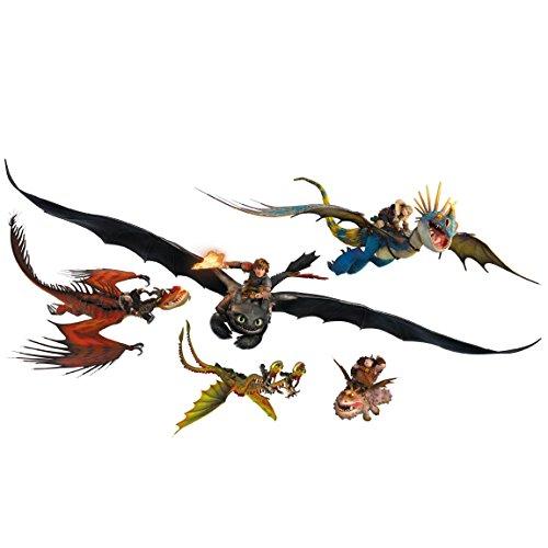 Bilderwelten Adesivo murale Dragons Dragon Set, Tatuaggio per Parete...