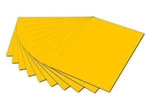 Folia 6115-Cartón fotográfico, 50x 70cm, 10Hojas, Color Amarillo