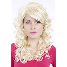WIG ME UP ® - Peluca de Diva clásica, rizado, rubio platino GFW806-613