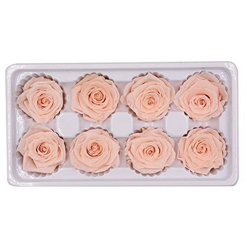 Wovemster fiori finti, artificiali deco finti rose plastica 8 teste sposa san valentino bouquet da per la casa festa in composizione floreale(asaka)