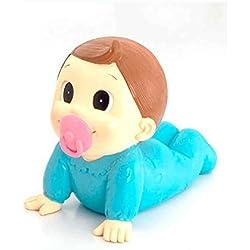 Muñeco para la tarta Figura tarta bautismo niño con chupete, para bautizo o BABY SHOWER. Hucha