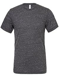"""Unisexe poly-coton t-shirt manche courte (BE119) - Charbon Marbre, X-Large / 46""""-49"""""""