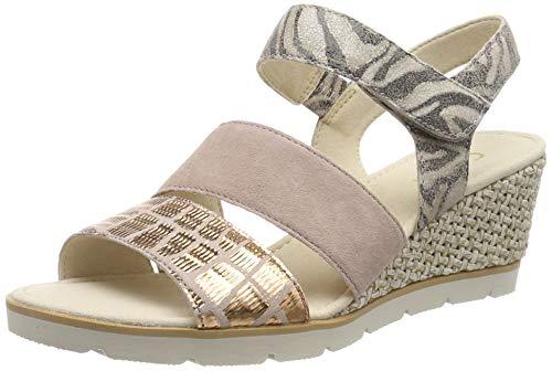 Gabor Shoes Damen Basic Riemchensandalen, Mehrfarbig (Antikrosa 34), 38.5 EU