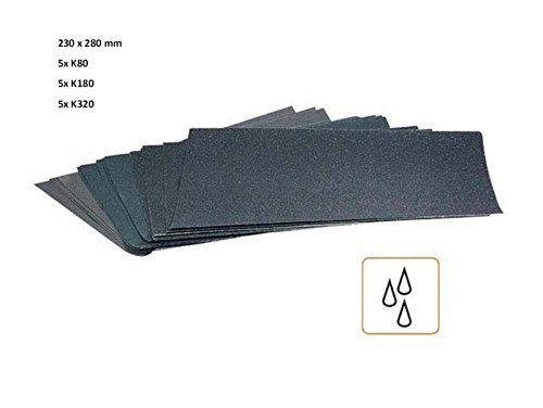 15 Bogen Schleifpapier Nass 280 x 230 mm K80-K320