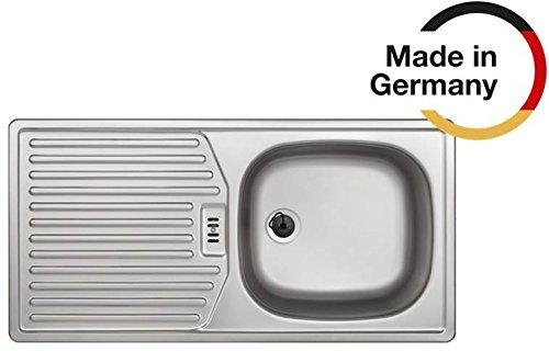 Rieber Einbauspüle E 86 K, Edelstahl Küchenspüle MADE IN GERMANY 860x435 mm 1 Becken mit...