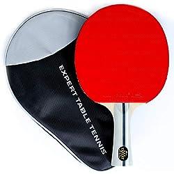 Palio Expert 3.0 Raquette de Tennis de Table avec étui - Homologué ITTF - évasée - pour débutants