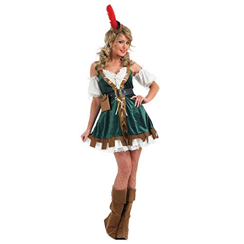 Damen Outlaw Kostüm - Fun Shack Damen Costume Kostüm, Womens Robin Hood, XL