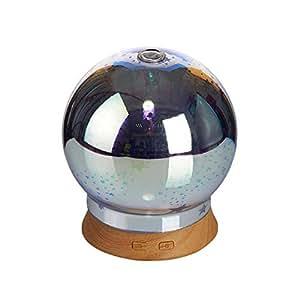 7 Couleur En changeant LED Lumi/ères Relaxation Humidificateur Pour la maison 3D Aromath/érapie Huile Essentielles Diffuseur Mode Nuit Minuteur Yoga Compact Design Bureau Auto-extinction