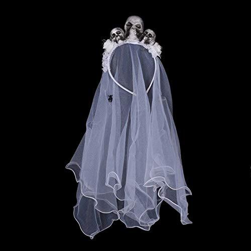 AWANSJHalloween kostüm Dekorationen schädel dekorative mesh Stitching Braut Stirnband für Halloween Party Girls Dress up - Schädel Braut Kostüm