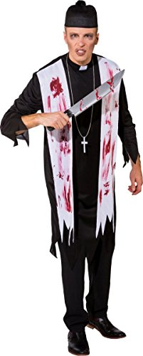 Orlob Herren Kostüm Zombie Priester Pfarrer Halloween Zombiekostüm Gr.L/XL
