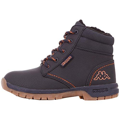 Kappa Unisex-Kinder Cammy FUR Klassische Stiefel, Blau (Navy/Orange 6744), 34 EU (Stiefel Für Pullover Kinder)