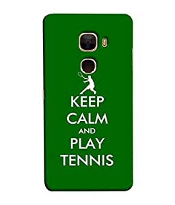 PrintVisa Designer Back Case Cover for LeTv Le Max :: LeEco Le Max (Keep Calm and Play Tennis Training)