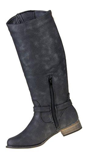 Optik Gef眉tterte Damen Schuhe Stiefel Schwarz Boots Used Schuhe Used Gef眉tterte Stiefel Damen aad0zrx