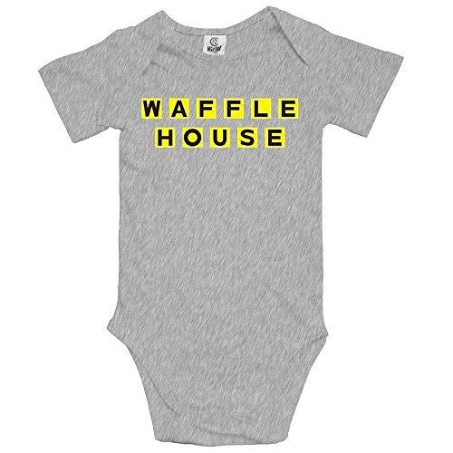 Kinder Jungen Mädchen Shirts Waffel House Bodysuits T Shirt Kurzarm T-Shirt Für Kleinkind Jungen Mädchen Sommer 0-3 Monate -