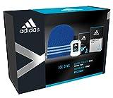Adidas - Confezione Regalo Ice Dive: Profumo Uomo 50 ml, Dopobarba 100 ml e Cappellino Lana Blu
