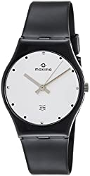 Maxima Analog Silver Dial Mens Watch - 02133PPGW